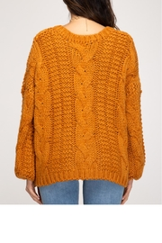 She + Sky Cable Knit Sweater - Other