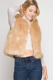 She + Sky Camel Faux Vest - Product Mini Image