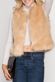 She + Sky Camel Fur Vest - Product Mini Image