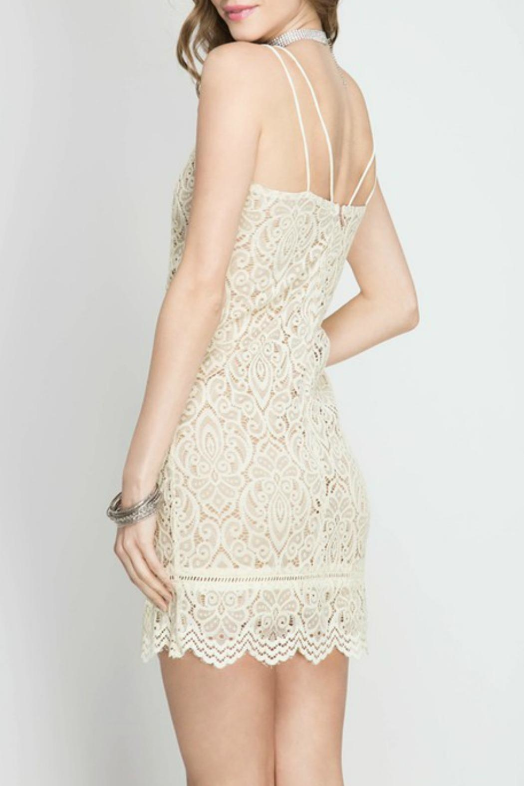 She + Sky Cami Lace Dress - Front Full Image