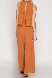 She + Sky Caramel Jumpsuit - Side cropped