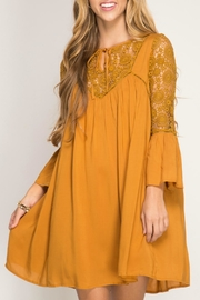 She + Sky Caramel Swing Dress - Product Mini Image