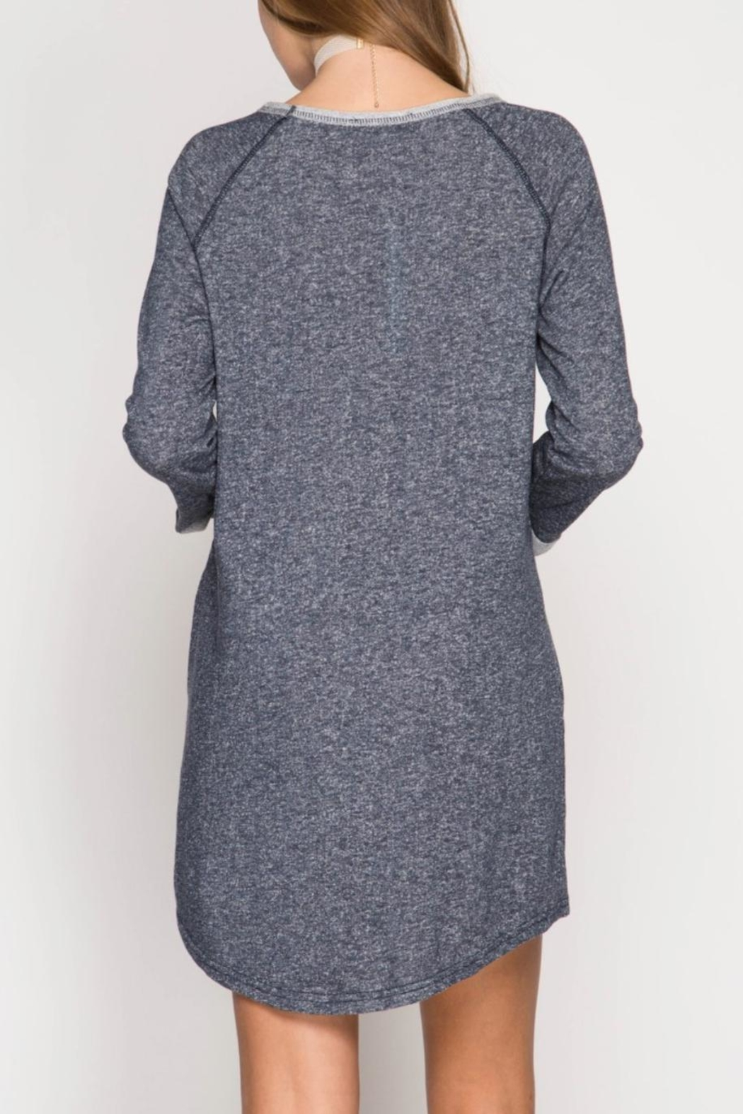 She + Sky Casual Pocket Dress - Front Full Image