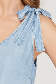 She + Sky Chambray Shoulder Tie Dress - Side cropped