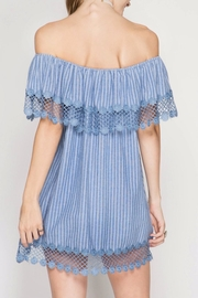 She + Sky Chambray Stripe Dress - Side cropped