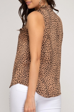 She + Sky Cheetah Ruffle Tank - Alternate List Image