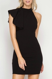 She + Sky Chelsey Black Dress - Front cropped