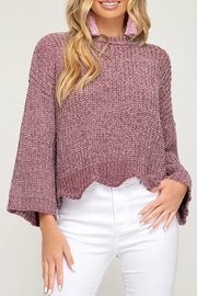 She + Sky Chenille Knit Sweater - Product Mini Image