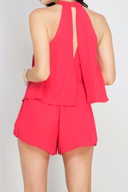 She + Sky Cherry Pink Romper - Side cropped