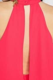 She + Sky Cherry Pink Romper - Back cropped