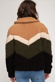 She + Sky Chevron Fuzzy Jacket - Side cropped