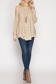 She + Sky Chiffon Knit Sweater - Product Mini Image