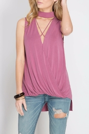 She + Sky Choke Neck Top - Product Mini Image