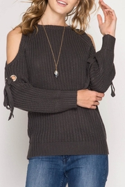 She + Sky Chunky Charcoal Cable Top - Product Mini Image