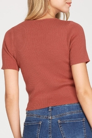 She + Sky Cinched Knit Top - Front full body