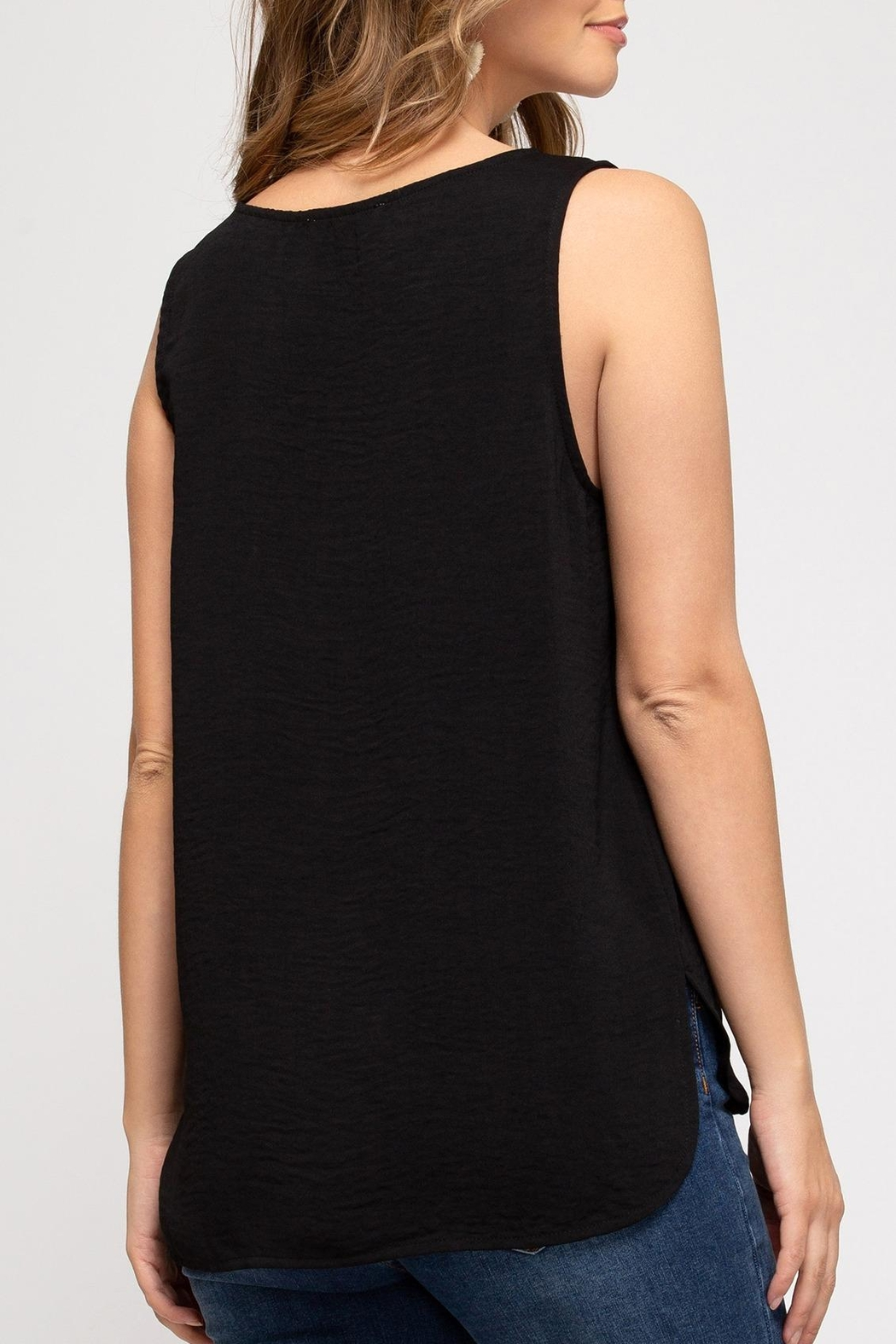 She + Sky Classic Sleeveless Top - Front Full Image