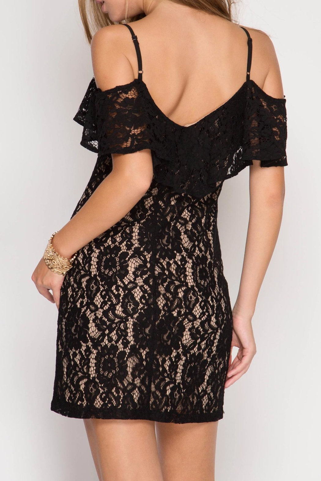 She + Sky Cold Lace Bodycon Dress   Front Full Image