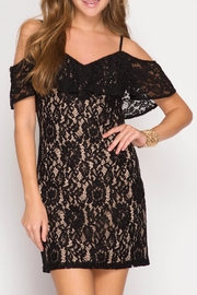 She + Sky Cold Lace Bodycon Dress - Product Mini Image