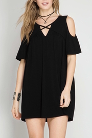 She + Sky Cold Shoulder Dress - Product Mini Image