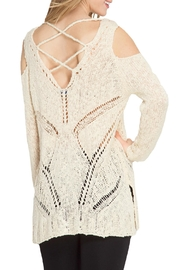 She + Sky Cold Shoulder Sweater - Front full body