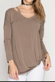 She + Sky Cold Shoulder Top - Product Mini Image