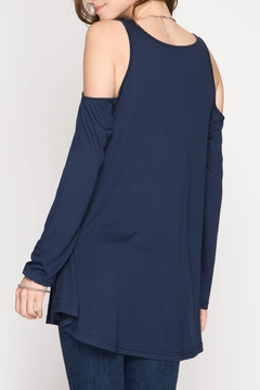 She + Sky Cold Shoulder Tunic - Alternate List Image