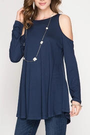 She + Sky Cold Shoulder Tunic - Product Mini Image