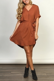 She + Sky Collared High-Low Dress - Front cropped
