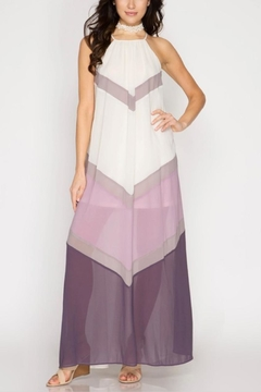 She + Sky Color-Blocked Maxi Dress - Product List Image