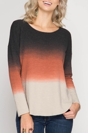 She + Sky Color Stack Shirt - Front cropped