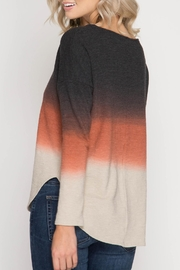 She + Sky Color Stack Shirt - Front full body