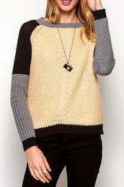 She + Sky Contrast Colorblock Sweater - Product Mini Image