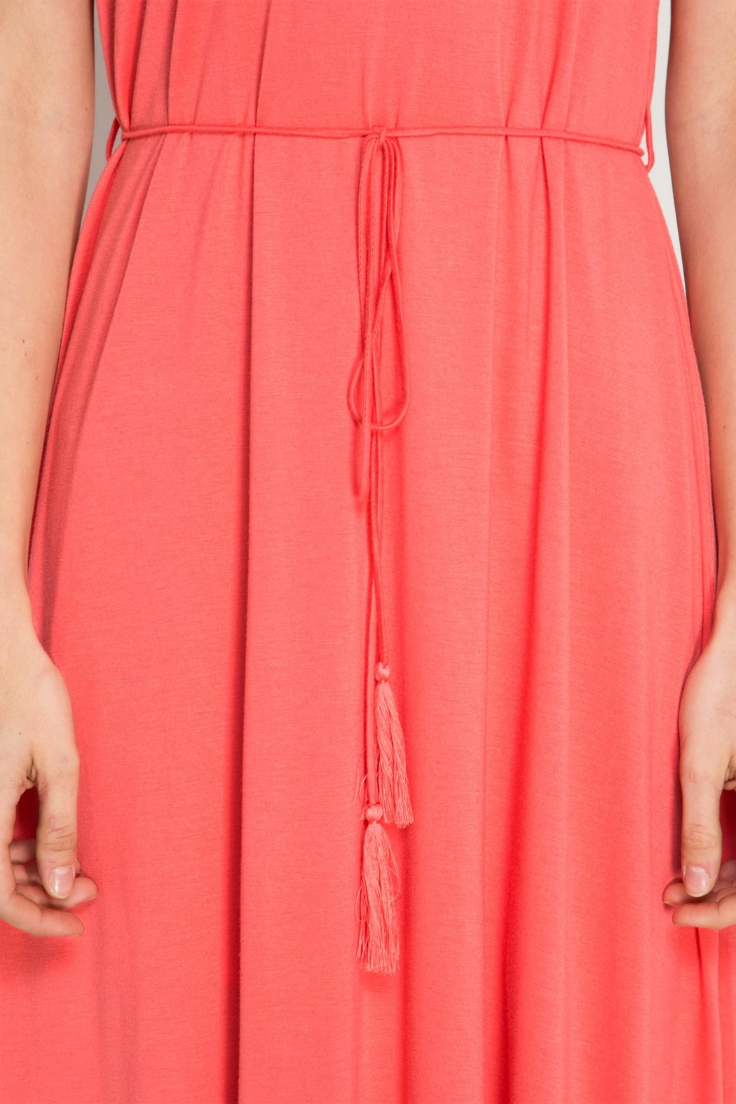 She + Sky Coral Maxi Dres - Side Cropped Image