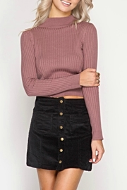 She + Sky Cordorouy Mini Skirt - Front cropped