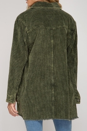 She + Sky Corduroy Button Down - Back cropped