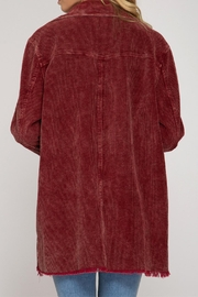 She + Sky Corduroy Button Down - Front full body