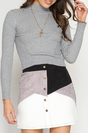 She + Sky Corduroy Button Skirt - Product Mini Image