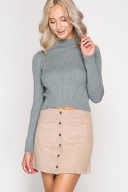 She + Sky Corduroy Mini Skirt - Front cropped