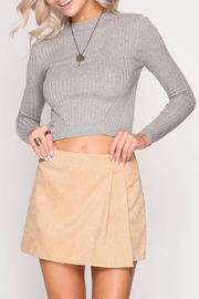 She + Sky Corduroy Wrap Skirt - Product Mini Image