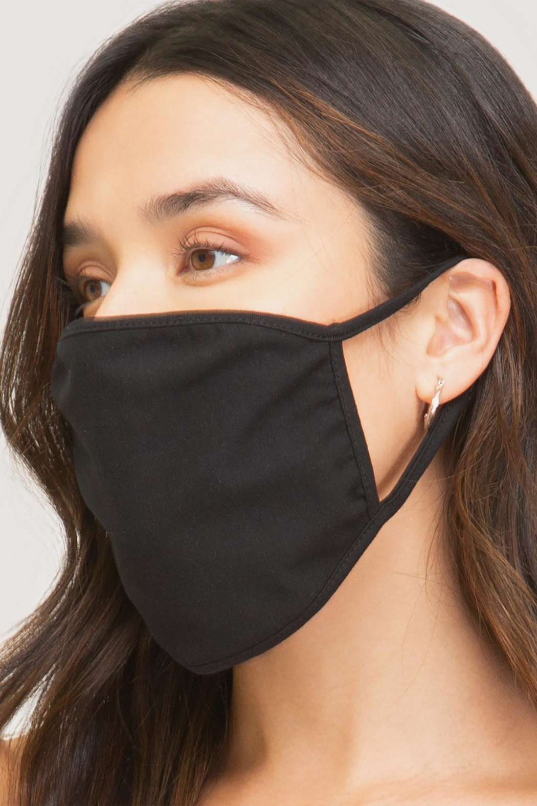 She + Sky Cotton Face Mask - Front Cropped Image