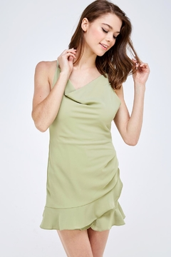 She + Sky Cowl Neck Romper - Product List Image