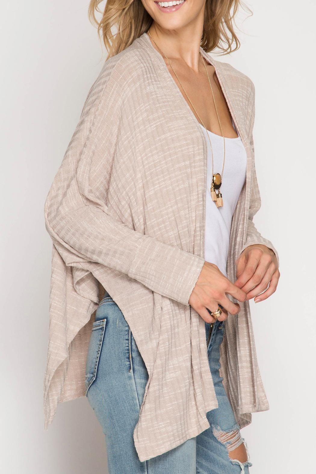 She + Sky Cozy Knit Cardigan - Front Full Image
