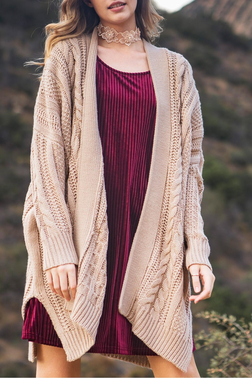 64952ed221b She + Sky Beige Cozy Knit Cardigan from Kansas by Eccentricity ...