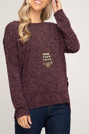 She + Sky Cozy Rouched Side Sweater - Product Mini Image