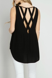 She + Sky Black Open Back Top - Product Mini Image