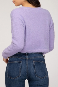 She + Sky Cropped Lilac Sweater - Alternate List Image