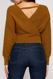 She + Sky Cropped Ribbed Sweater - Back cropped