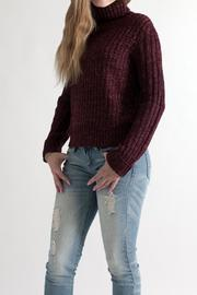 She + Sky Cropped Turtleneck Sweater - Side cropped