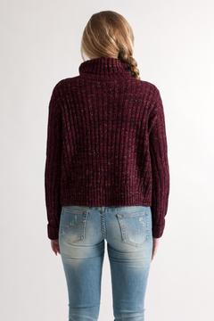 She + Sky Cropped Turtleneck Sweater - Alternate List Image