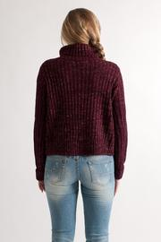 She + Sky Cropped Turtleneck Sweater - Back cropped